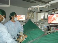 How is a laparoscopic procedure performed?